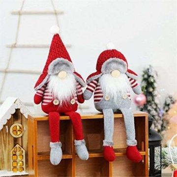 Ansenesna Wichtel Figuren Stehend Weihnachts Stoff Zwerge Weihnachten Schmuck Deko Niedlich Weihnachtspuppe - 3