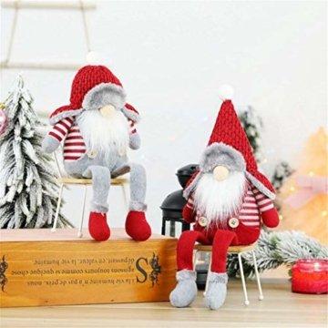 Ansenesna Wichtel Figuren Stehend Weihnachts Stoff Zwerge Weihnachten Schmuck Deko Niedlich Weihnachtspuppe - 4