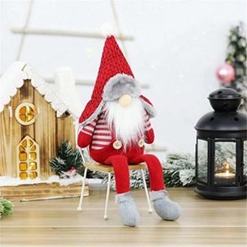 Ansenesna Wichtel Figuren Stehend Weihnachts Stoff Zwerge Weihnachten Schmuck Deko Niedlich Weihnachtspuppe - 1