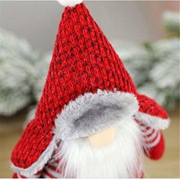 Ansenesna Wichtel Figuren Stehend Weihnachts Stoff Zwerge Weihnachten Schmuck Deko Niedlich Weihnachtspuppe - 5