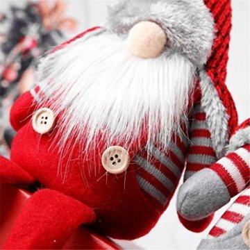 Ansenesna Wichtel Figuren Stehend Weihnachts Stoff Zwerge Weihnachten Schmuck Deko Niedlich Weihnachtspuppe - 6