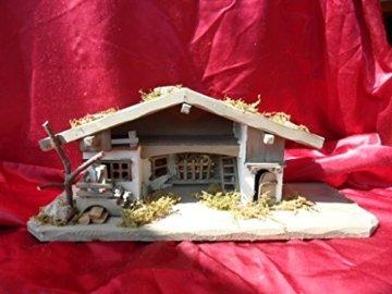Arbrikadrex Verschiedene Weihnachtskrippen Holz Schreinerarbeit Douglasienholz Handarbeit Krippe mit und ohne Figuren Krippen-stall Weihnachten (Weihnachtskrippe, Greta) - 3