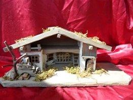 Arbrikadrex Verschiedene Weihnachtskrippen Holz Schreinerarbeit Douglasienholz Handarbeit Krippe mit und ohne Figuren Krippen-stall Weihnachten (Weihnachtskrippe, Greta) - 1