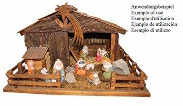 ARTECSIS 11-teiliges Set Krippenfiguren 7,5 cm Weihnachtskrippe Weihnachtsfiguren aus Keramik - 3