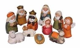 ARTECSIS 11-teiliges Set Krippenfiguren 7,5 cm Weihnachtskrippe Weihnachtsfiguren aus Keramik - 1