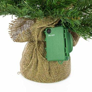 artplants.de Künstlicher Weihnachtsbaum Wellington, 35 LED's, 185 Zweige, 60cm, Ø 50cm - Kunst Tannenbaum - Deko Christbaum - 3