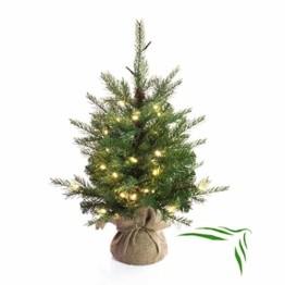 artplants.de Künstlicher Weihnachtsbaum Wellington, 35 LED's, 185 Zweige, 60cm, Ø 50cm - Kunst Tannenbaum - Deko Christbaum - 1