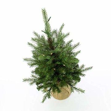 artplants.de Künstlicher Weihnachtsbaum Wellington, 35 LED's, 185 Zweige, 60cm, Ø 50cm - Kunst Tannenbaum - Deko Christbaum - 4