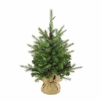 artplants.de Künstlicher Weihnachtsbaum Wellington, 35 LED's, 185 Zweige, 60cm, Ø 50cm - Kunst Tannenbaum - Deko Christbaum - 5