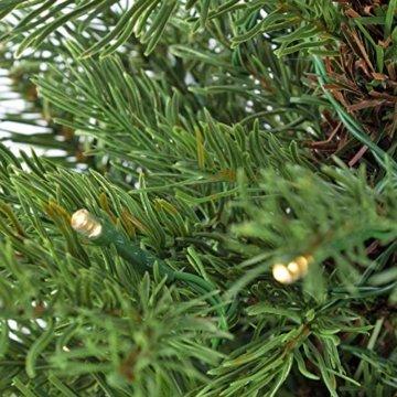 artplants.de Künstlicher Weihnachtsbaum Wellington, 35 LED's, 185 Zweige, 60cm, Ø 50cm - Kunst Tannenbaum - Deko Christbaum - 6