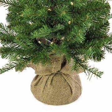 artplants.de Künstlicher Weihnachtsbaum Wellington, 35 LED's, 185 Zweige, 60cm, Ø 50cm - Kunst Tannenbaum - Deko Christbaum - 7