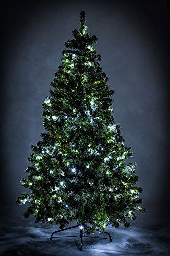 awshop24 Künstlicher Weihnachtsbaum Tannenbaum Christbaum Tanne mit und ohne LED, in verschiedenen Größen und Ausführungen (150 cm, Grün mit Schnee-Effekt LED) - 3