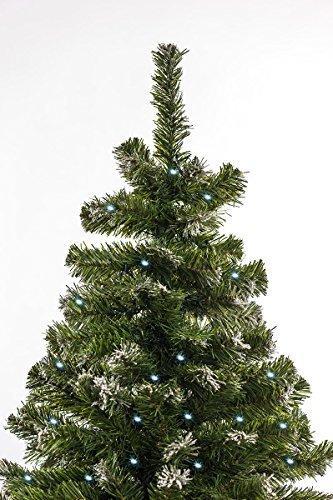awshop24 Künstlicher Weihnachtsbaum Tannenbaum Christbaum Tanne mit und ohne LED, in verschiedenen Größen und Ausführungen (150 cm, Grün mit Schnee-Effekt LED) - 4