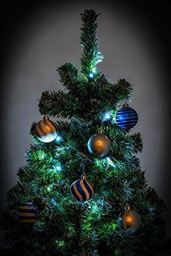 awshop24 Künstlicher Weihnachtsbaum Tannenbaum Christbaum Tanne mit und ohne LED, in verschiedenen Größen und Ausführungen (150 cm, Grün mit Schnee-Effekt LED) - 6