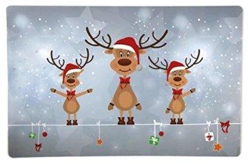 Bada Bing 6er Set Tischset Weihnachten Rentier Rudolph Kinder - 4