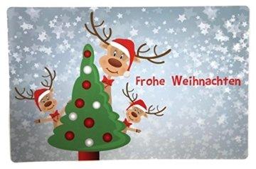 Bada Bing 6er Set Tischset Weihnachten Rentier Rudolph Kinder - 5