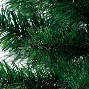BAFYLIN Künstlicher Weihnachtsbaum Tannenbaum Kiefernadel Christbaum Dekobaum Kunstbaum (Grün, 120cm) - 2