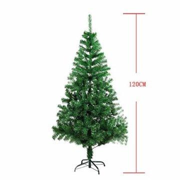 BAFYLIN Künstlicher Weihnachtsbaum Tannenbaum Kiefernadel Christbaum Dekobaum Kunstbaum (Grün, 120cm) - 3