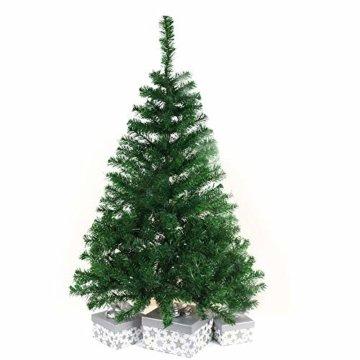BAFYLIN Künstlicher Weihnachtsbaum Tannenbaum Kiefernadel Christbaum Dekobaum Kunstbaum (Grün, 120cm) - 4