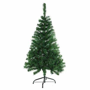 BAFYLIN Künstlicher Weihnachtsbaum Tannenbaum Kiefernadel Christbaum Dekobaum Kunstbaum (Grün, 120cm) - 1