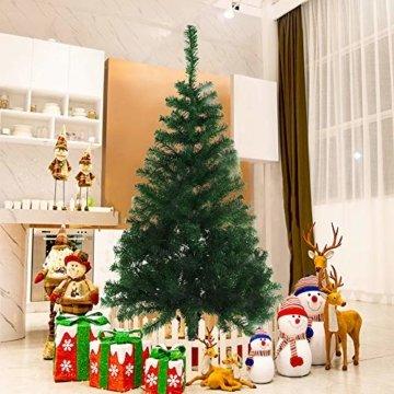 BAFYLIN Künstlicher Weihnachtsbaum Tannenbaum Kiefernadel Christbaum Dekobaum Kunstbaum (Grün, 120cm) - 5