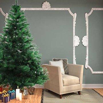 BAFYLIN Künstlicher Weihnachtsbaum Tannenbaum Kiefernadel Christbaum Dekobaum Kunstbaum (Grün, 120cm) - 6