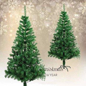 BAFYLIN Künstlicher Weihnachtsbaum Tannenbaum Kiefernadel Christbaum Dekobaum Kunstbaum (Grün, 120cm) - 7
