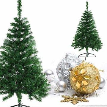 BAFYLIN Künstlicher Weihnachtsbaum Tannenbaum Kiefernadel Christbaum Dekobaum Kunstbaum (Grün, 120cm) - 8