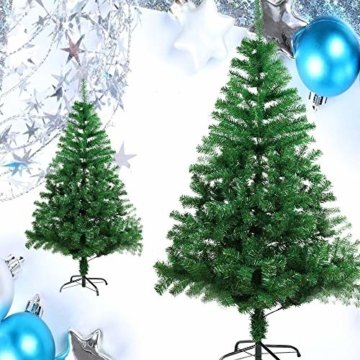 BAFYLIN Künstlicher Weihnachtsbaum Tannenbaum Kiefernadel Christbaum Dekobaum Kunstbaum (Grün, 120cm) - 9