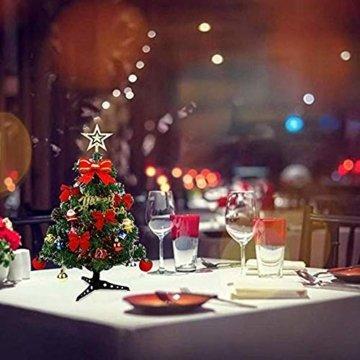 Bcamelys Geschmückter Weihnachtsbäume, 45 cm Mini Künstlicher Weihnachtsbaum, Deko Tannenbaum Mit Dekorationspaket, Weihnachtsdekoration für Zuhause und Büro - 3