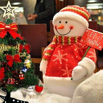 Bcamelys Geschmückter Weihnachtsbäume, 45 cm Mini Künstlicher Weihnachtsbaum, Deko Tannenbaum Mit Dekorationspaket, Weihnachtsdekoration für Zuhause und Büro - 5