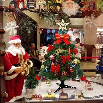 Bcamelys Geschmückter Weihnachtsbäume, 45 cm Mini Künstlicher Weihnachtsbaum, Deko Tannenbaum Mit Dekorationspaket, Weihnachtsdekoration für Zuhause und Büro - 6