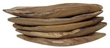 Beho Natürlich gut in Holz Teak Deko Schale Boot Dulang Boat Tray ca. 52x15x7 cm Unikat handgefertigt mit Zertifikat geeignet für Lebensmittel 2606 - 3
