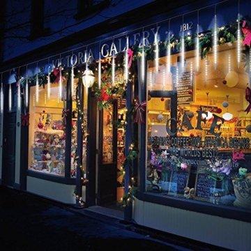 BlueFire Aufgerüstet Meteorschauer Regen Lichter, 50cm 10 Spirale Tubes 540 LEDs wasserdichte Schneefall Lichterkette für Draussen/Innenraum/Garten/Hochzeit/Party/Weihnachten Dekoration (Weiß) - 3