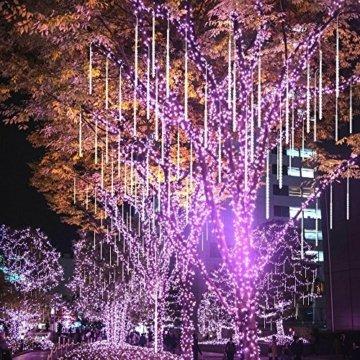 BlueFire Aufgerüstet Meteorschauer Regen Lichter, 50cm 10 Spirale Tubes 540 LEDs wasserdichte Schneefall Lichterkette für Draussen/Innenraum/Garten/Hochzeit/Party/Weihnachten Dekoration (Weiß) - 4