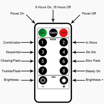 BXROIU 2 x50Leds Silbernedraht Micro Lichterkette Batteriebetrieb 8 Programm (Warm weiß) - 2