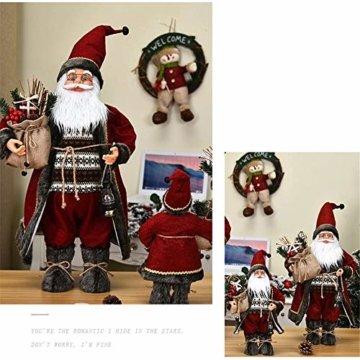 Caiyin Weihnachtsmann Weihnachtsmann Figur Puppe, Weihnachtsmann Weihnachtsfigur Figur Dekoration, Weihnachtsschmuck Für Wohnkultur | 11,8 '' | - 6