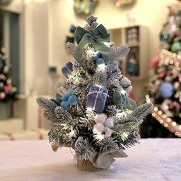 carol -1 Festive Künstlicher Weihnachtsbaum, Geschmückter Weihnachtsbaum beleuchtet 30cm - Weihnachtsbaum mit Lichterkette Schleifen Christbaumkugeln, Mini LED Weihnachtsbaum - 1