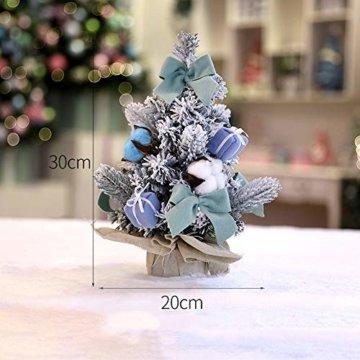 carol -1 Festive Künstlicher Weihnachtsbaum, Geschmückter Weihnachtsbaum beleuchtet 30cm - Weihnachtsbaum mit Lichterkette Schleifen Christbaumkugeln, Mini LED Weihnachtsbaum - 4