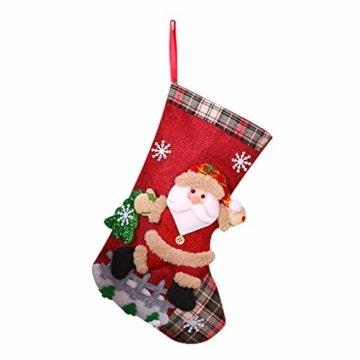 carol -1 Nikolausstrumpf Weihnachtsstrumpf Deko Kamin Christmas Stocking Nikolausstiefel zum Befüllen und Aufhängen Groß Ideale Weihnachtsdekoration Weihnachtssocke Socken für Kamin Candy - 1