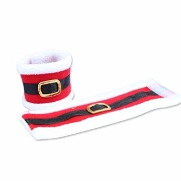 CHBOP 10 x Serviettenring Handtuchring Serviettenhalter Tischdekoration Dekorative Tischdeko für Weihnachten Weihnachtsmann - 2