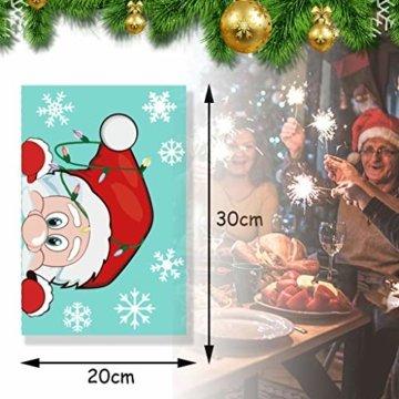CheChury Fensterbilder für Weihnachten Fensterbilder Winter Statisch Haftende PVC Aufklebe Weihnachtsmann Süße Elche Wiederverwendbar Schneeflocken Fenster Schneeflocken Aufkleber DIY Weihnachtsdeko - 4