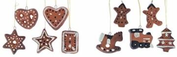 Christbaumschmuck Terracotta-Lebkuchen 10er Set - 3
