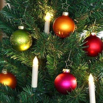 com-four® 72x Kugelaufhänger für Weihnachtsbaumschmuck - Aufhänger für Christbaumkugeln - Perfekt für Weihnachtskugeln - 2