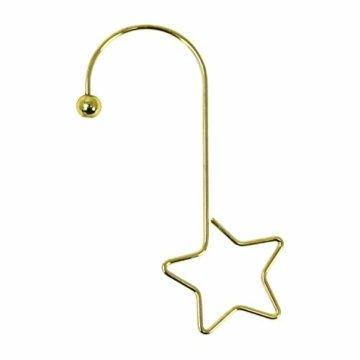 com-four® 72x Kugelaufhänger für Weihnachtsbaumschmuck - Aufhänger für Christbaumkugeln - Perfekt für Weihnachtskugeln - 3