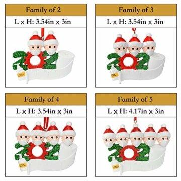 Cymax Weihnachtsschmuck,2020 Personalisierte Familie Von 4 Weihnachten 2020 Christbaum Deko Feiertags Dekorationen Segen Harz Schneemann Anhänger Weihnachtsbaum Hängen - 3