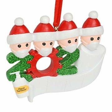 Cymax Weihnachtsschmuck,2020 Personalisierte Familie Von 4 Weihnachten 2020 Christbaum Deko Feiertags Dekorationen Segen Harz Schneemann Anhänger Weihnachtsbaum Hängen - 6