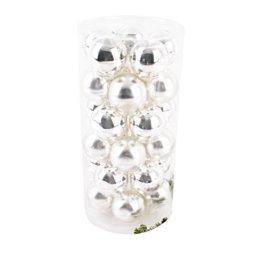 Dadeldo Living & Lifestyle Weihnachtskugel Premium 30er Set Glas 6cm Xmas Baumschmuck (Silber) - 1