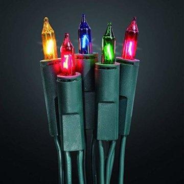 dasmöbelwerk Weihnachts Mini Lichterkette mit 100 Lämpchen Lichterketten für Innen Weihnachtsbaum Beleuchtung Bunt - 3