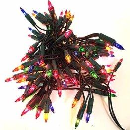 dasmöbelwerk Weihnachts Mini Lichterkette mit 100 Lämpchen Lichterketten für Innen Weihnachtsbaum Beleuchtung Bunt - 1
